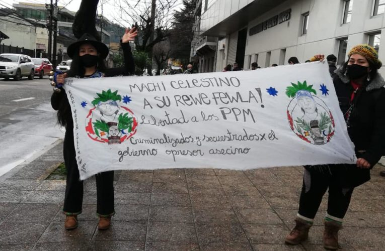 Comunicado público Machi Celestino Córdova anunciando que mantiene la huega de hambre (Esp/Ing)