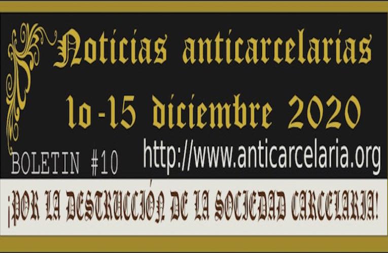 Boletín #10 Noticias Anticarcelarias