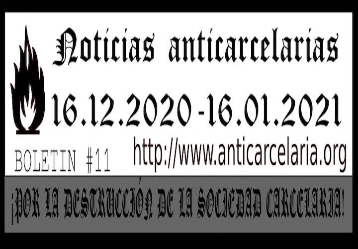 Boletín #11: Noticias Anticarcelarias