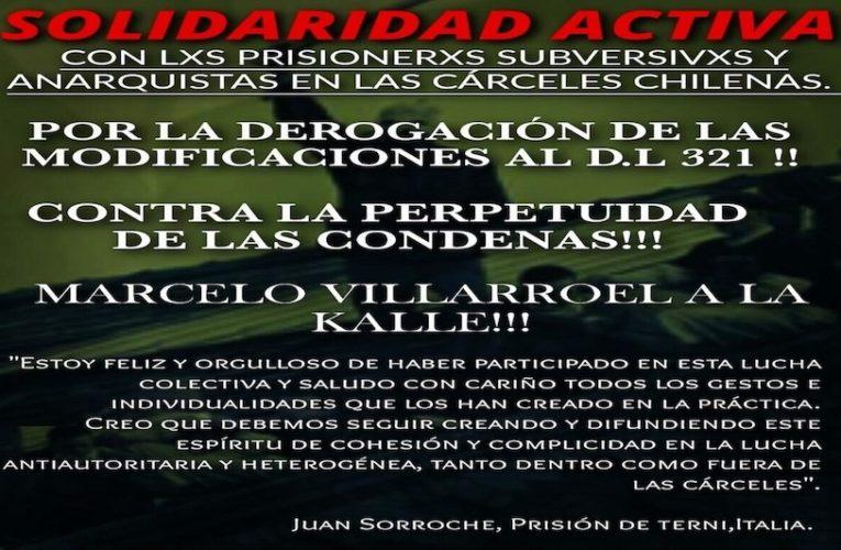 Comunicado del compañero anarquista Juan Sorroche Fernández